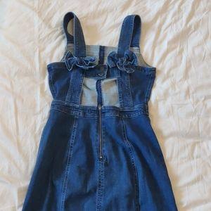 Madewell denim apron bow back dress